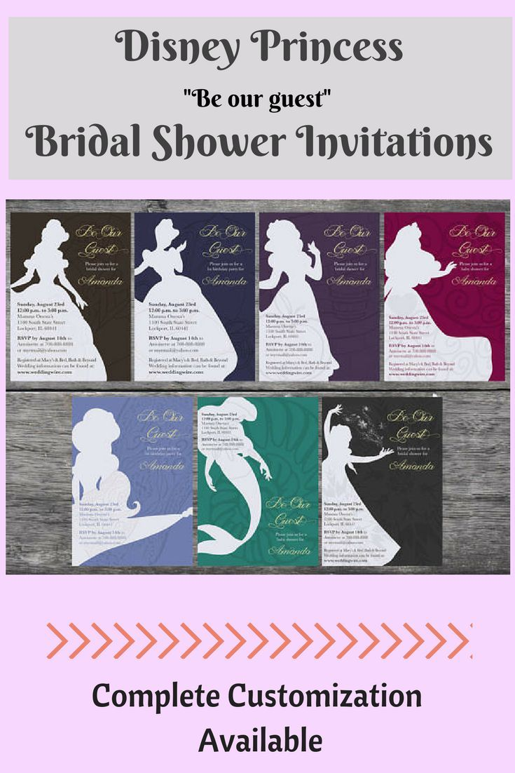 Disney Princess Theme Bridal Shower Invitations Are So Much Fun There Tons Of Other Ideas Out To Have A Themed