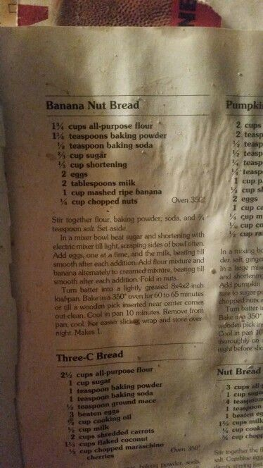 Betty crocker banana bread. (Dads recipe ) (betty crocker microwave cake)