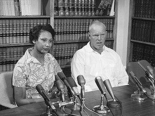 Mildred and Richard Loving in 1967. Their fight resulted in the legalization of interracial marriage nationwide through the U.S. Supreme…