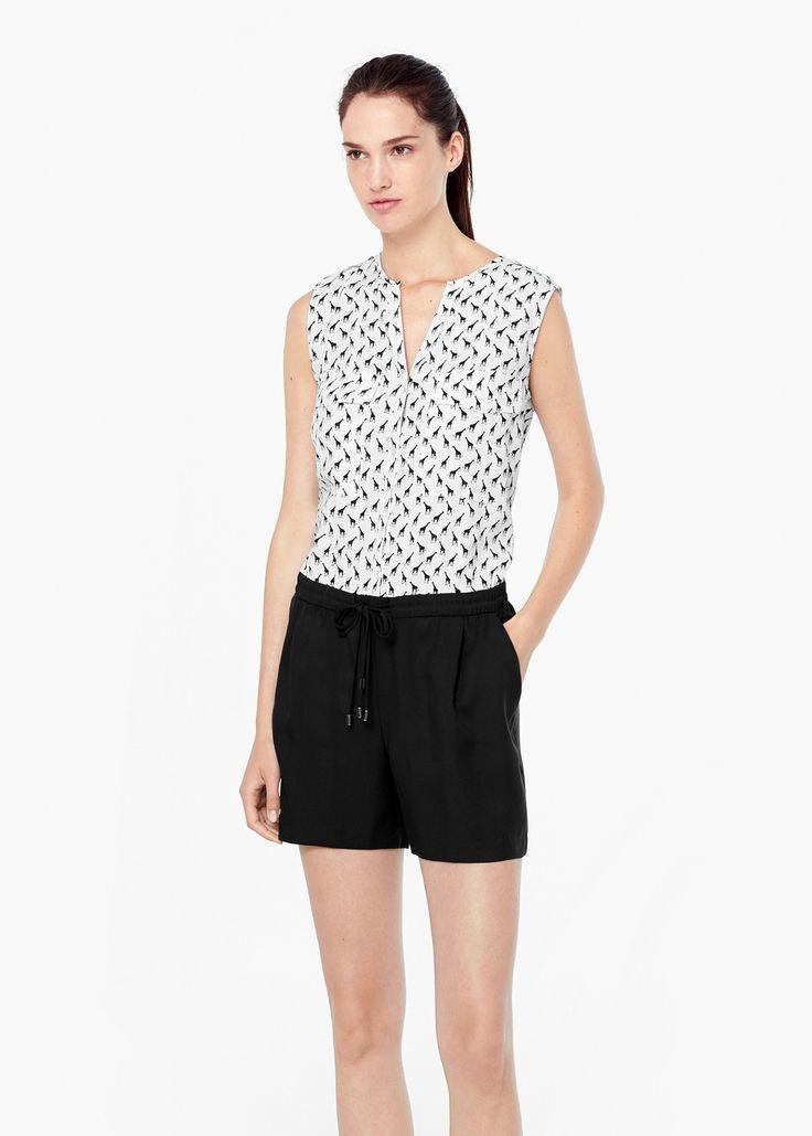 Printed short jumpsuit -  Women | MANGO