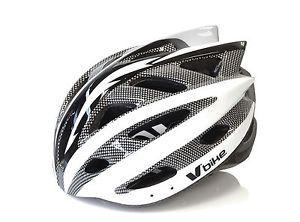 a casco ciclismo deportivo carbono y blanco bicicleta carretera mtb talla l 2959bl