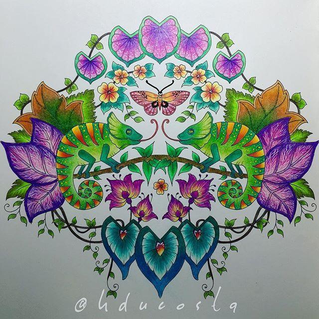 Chameleon Coloring Coloringbook Drawing Doodle Flowers Livrodecolorir Mindfulness Selvamagica Magicaljungle Purpleleaves Secretgarden