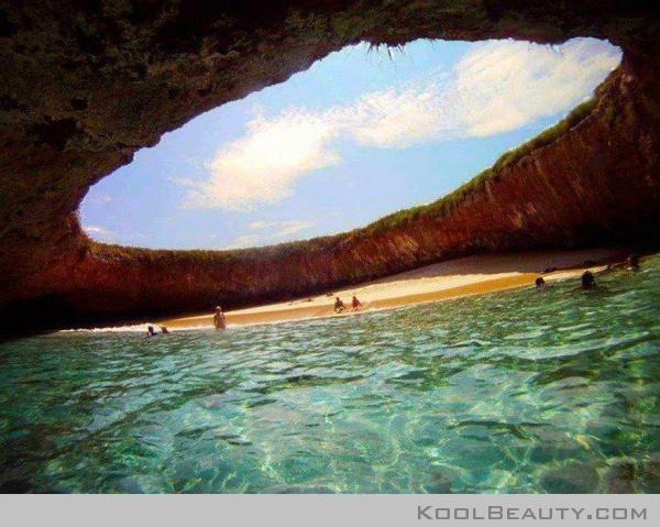 Hidden beach in Marietta island, Puerto Vallarta, Mexico