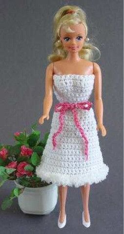 Picture of Fashion Doll Strapless Dress and Poncho Crochet Pattern