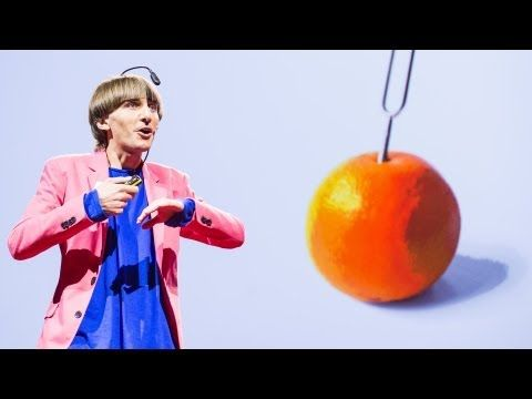 """Neil Harbisson: I listen to color""  Artist Neil Harbisson was born completely color blind, but these days a device attached to his head turns color into audible frequencies. Instead of seeing a world in grayscale, Harbisson can hear a symphony of color -- and yes, even listen to faces and paintings."