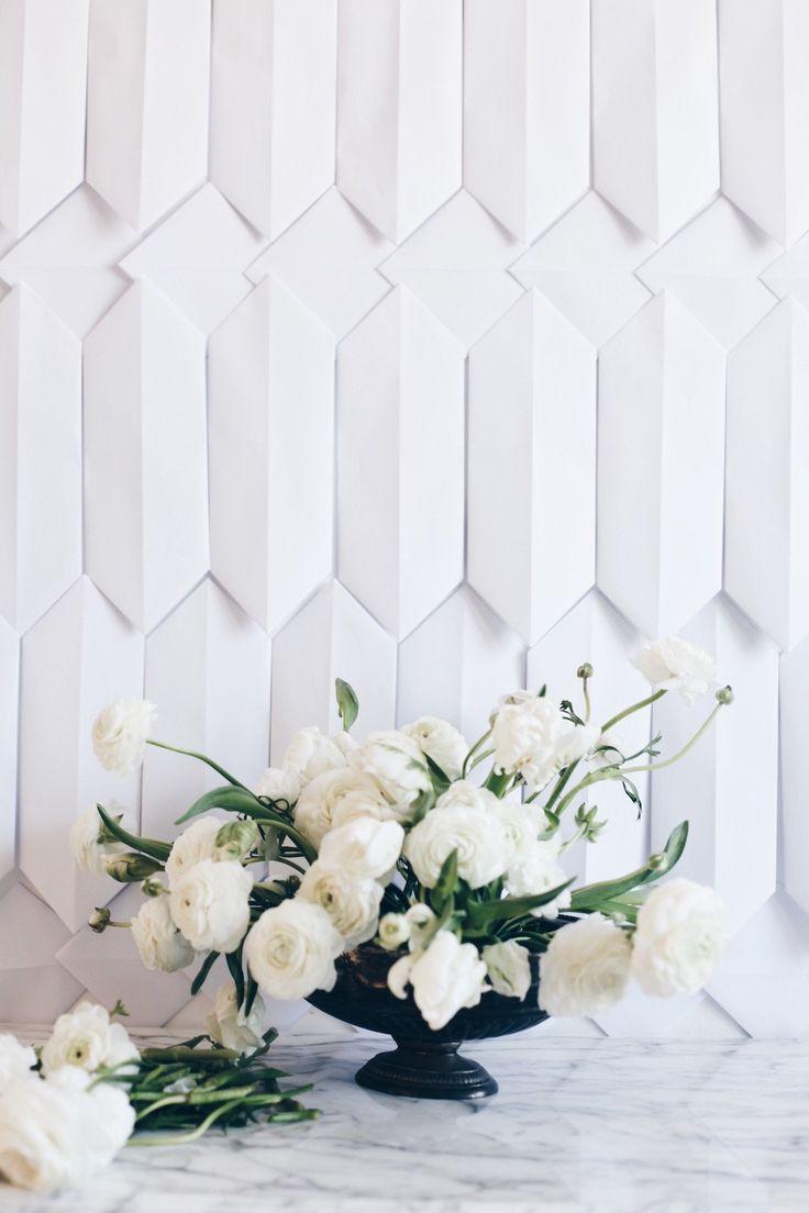 DIY: Romantic + Classy Flower Arrangement In White - decor8