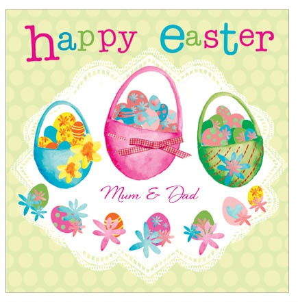Easter Egg Hunt - personalised individual Easter card