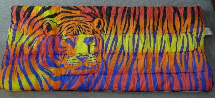 Lisa Frank Tiger Teen Sleeping Slumber Bag 1986 RARE Vintage Colorful Stripes | eBay