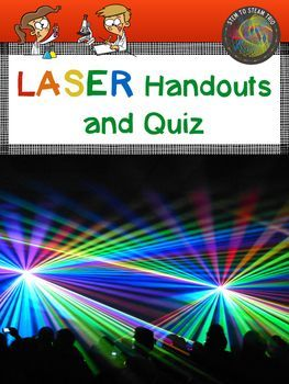 This resource includes LASER terms handout for students, an electromagnetic spectrum mini poster and fill in the blank worksheet. There is a uses of LASARs mini poster.  An end of unit LASERs quiz and answer key is included.If you like this you might also like:Bundle of Energy!Types of Energy Posters