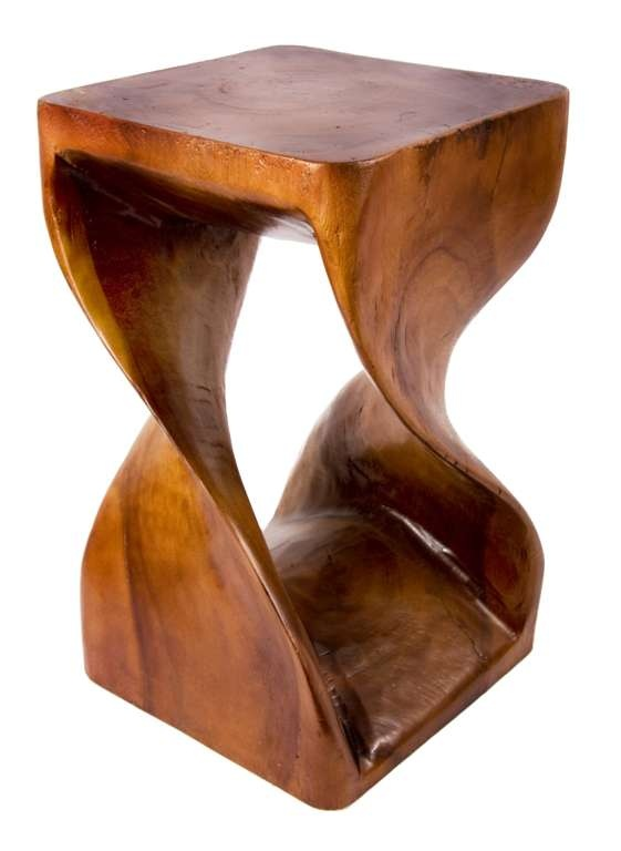 Twisted wood stool/table