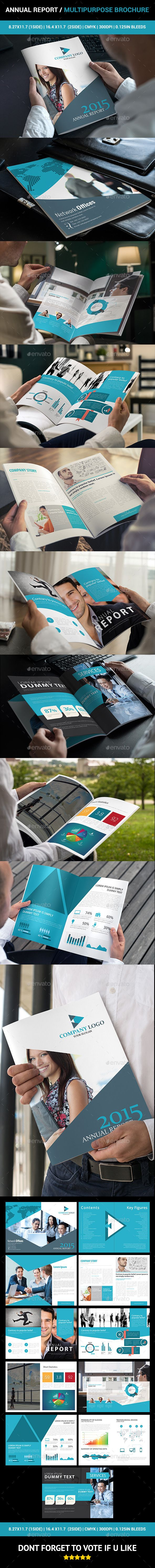 An annual report / Multipurpose Brochure is simple, Nice, and clean brochure used for any business.
