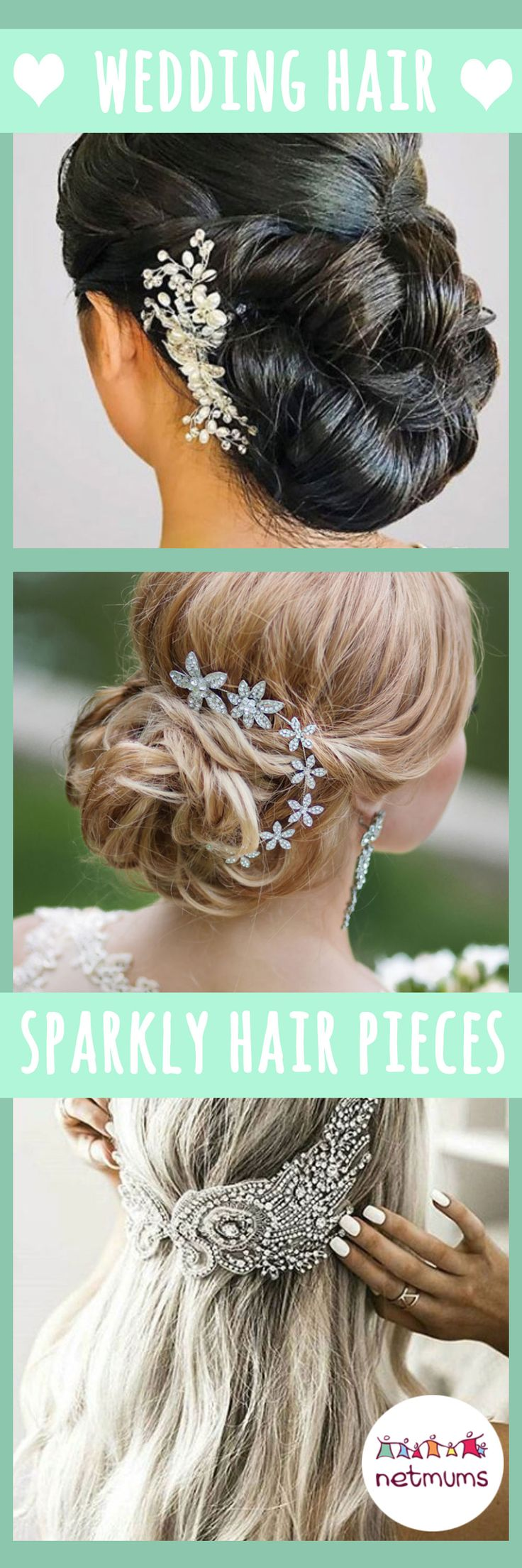 For many, finding the perfect wedding hairstyle is crucial for the big day. You only get one choice so the pressure really is on to pick the best style to suit you. Why not try some gorgeous hair clips or other sparkly decorations for your big day?