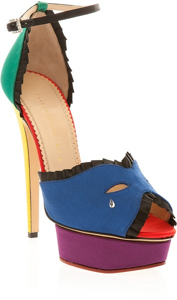 Charlotte Olympia Masquerade Colour Block Sandal - Lyst