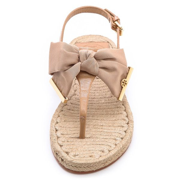 Tory Burch Penny Flat Thong Espadrilles - Camellia Pink ($175) ❤ liked on  Polyvore - 90 Best Tory Burch Images On Pinterest