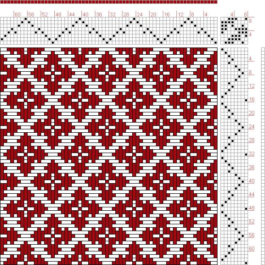 Hand Weaving Draft: Page 129, Figure 14, Donat, Franz Large Book of Textile Patterns, 8S, 8T - Handweaving.net Hand Weaving and Draft Archive