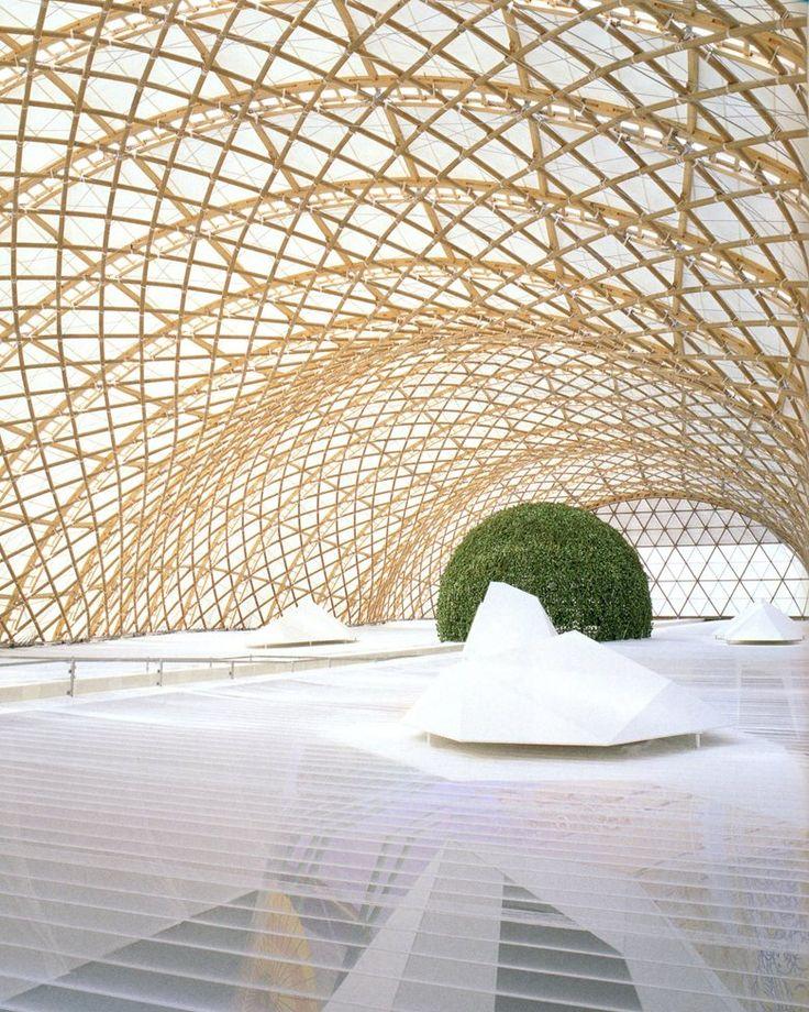 Japan Pavilion Expo 2000 Hannover, Hannover, 2000 – Shigeru Ban Architekten, Frei Otto