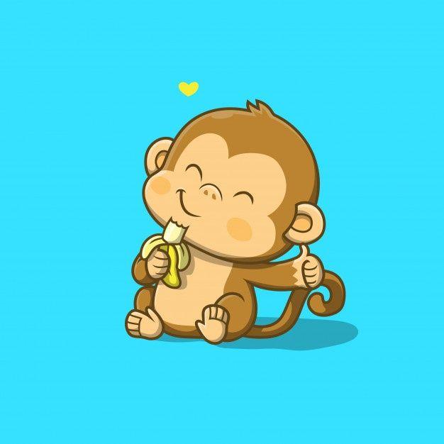 Kawaii Iphone Wallpaper Monkey Wallpaper Cartoon Baby Animals Monkey Illustration