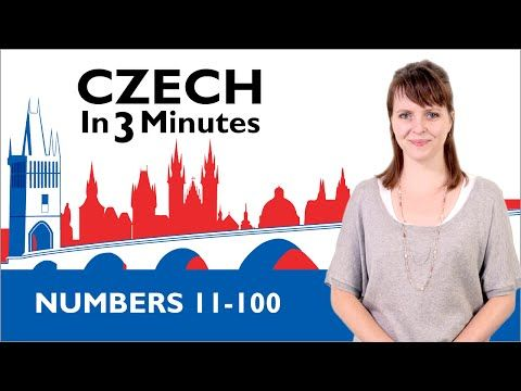 Learn Czech - Numbers 11-100 - Czech in Three Minutes - YouTube