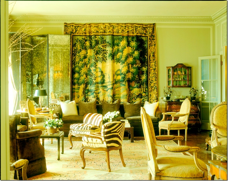 Another Design By Michael Taylor Adding A Classical Element Is The Tapestry