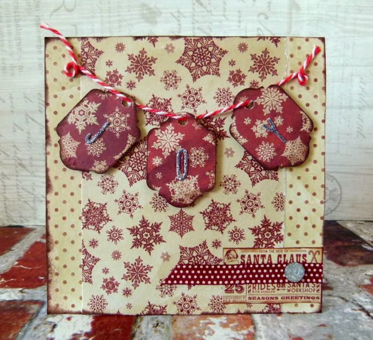 Dovecraft North Pole Joy Christmas Card by design team member Katie