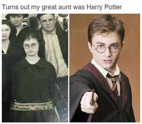 My great aunt was Harry Potter