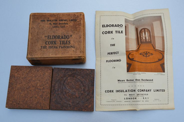 1930s Eldorado Cork Tile Samples To The Lady Evelyn Collins Innes-Ker Oundall Manor Cork Insulation Company Vintage Tile Antique Tile by BiminiCricket on Etsy
