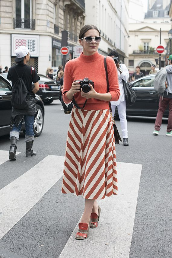 love the coral stripes