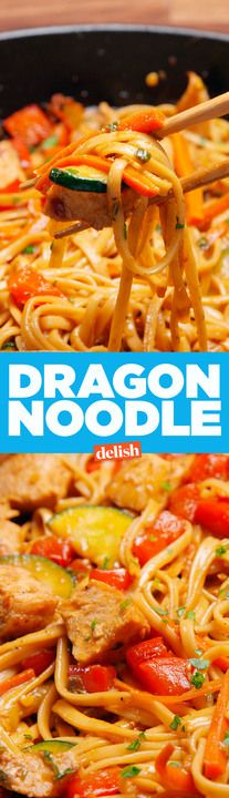 These Dragon Noodles are straight fire. Get the recipe from Delish.com.
