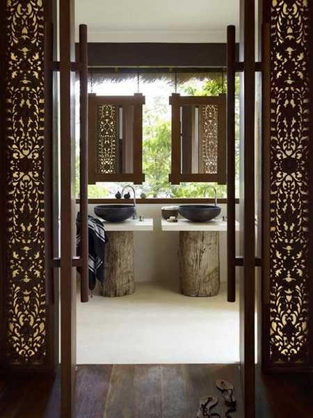 modern bathroom design in asian style
