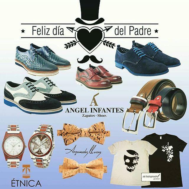 @Regrann from @es_nuestro - ¿Tienes ya pensado el regalo para el Día del Padre? Las mejores propuestas para el mejor papá by @lshowroomcomunicacion #diadelpadre #regalos #papa - #regrann #zapatos y #cinturones de @angel_infantes, #pajaritas de #corcho de @arquimedesllorens, #camisetas de @aramatfashion, relojes de @etnicaproject