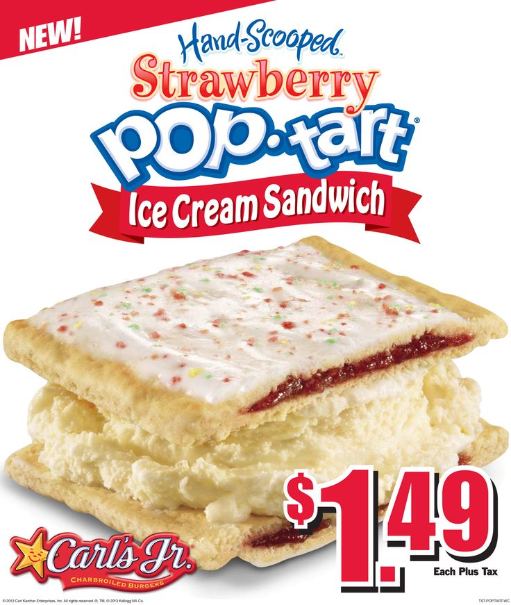 """WHAT?  """"Behold the Pop-Tart Ice Cream Sandwich From Carl's Jr."""" at eater.com"""