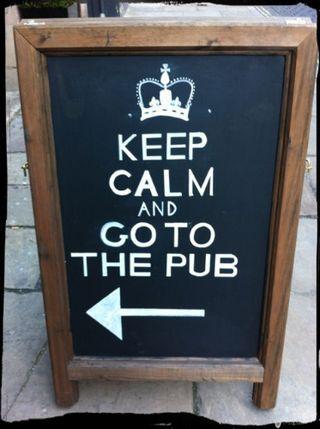The best pub sign in Nottingham.