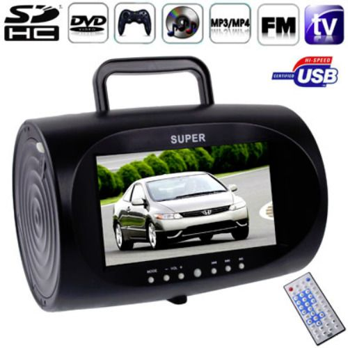 BoomBox DVD Player 7.5 inch TFT LCD – TV Tuner / Game / FM / MP3 / USB / SD