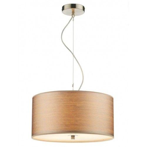 DAR TUS1046 Tuscan 3 Lamp Strung Pendant Ceiling Light 400mm Satin Chrome (Dar Lighting TUS1046) - discounthomelighting