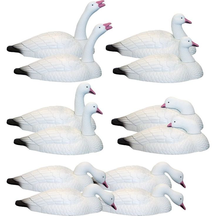 Hard Core Snow Goose Shell (White) Touch Down Decoy – 12 Pack
