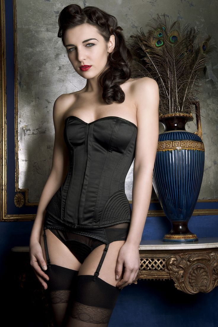 I just love this Vintage Stitch Corset - Black - Playful ...