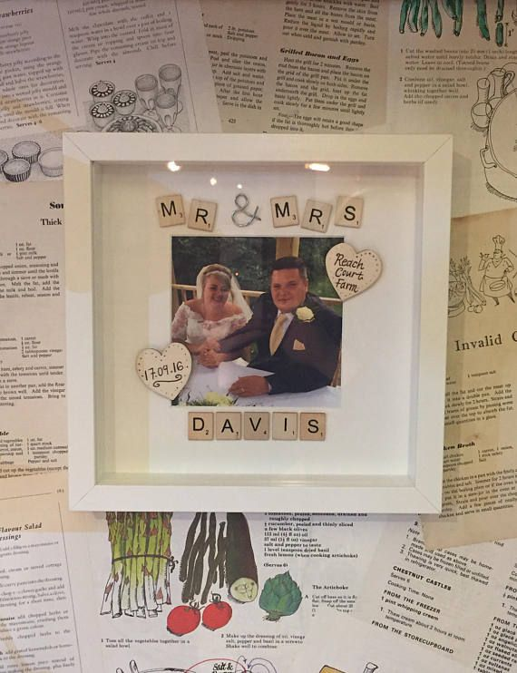 Mr and Mrs Scrabble Photo Frame