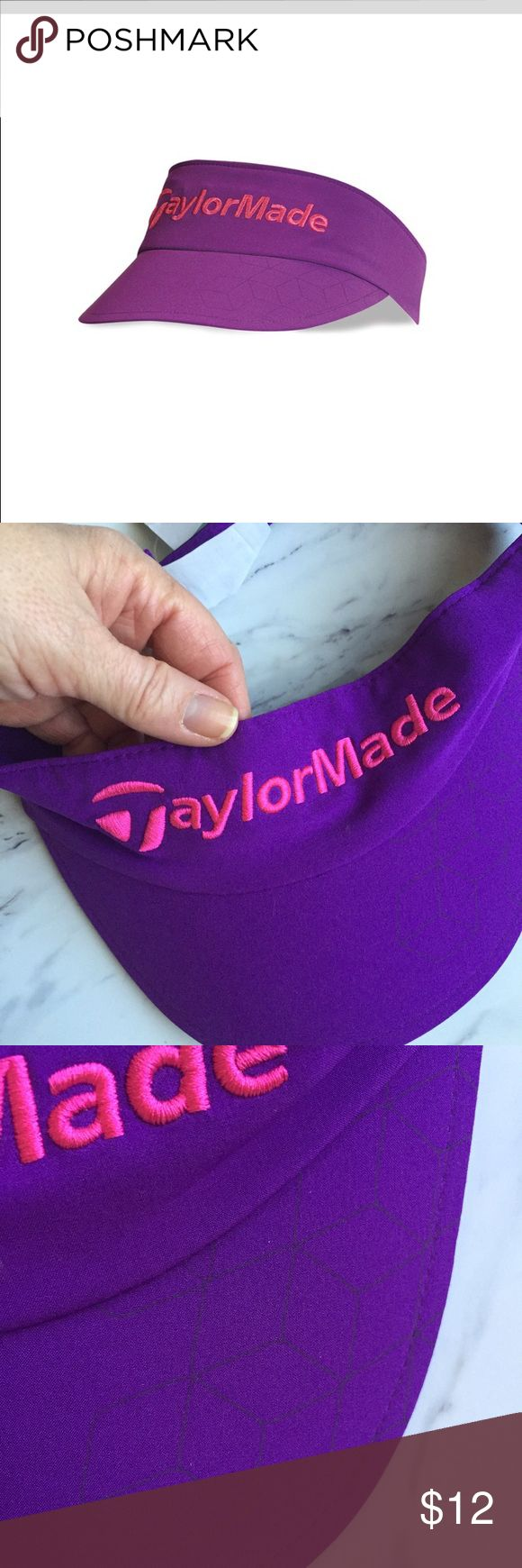 Taylor Made visor NWT Brand new Taylor Made women's visor. Never worn. Cool print on bill shown in pic. Taylor Made Accessories Hats