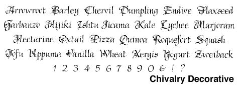 Bowfin Printworks - Script Font Identification - Calligraphic Lettering - Type Samples