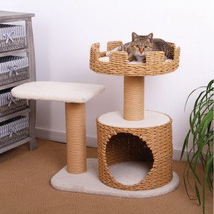 Hangout spot for Nigel in new room.    PetPals Eco Friendly Cat Condo - PetSmart. $99.99