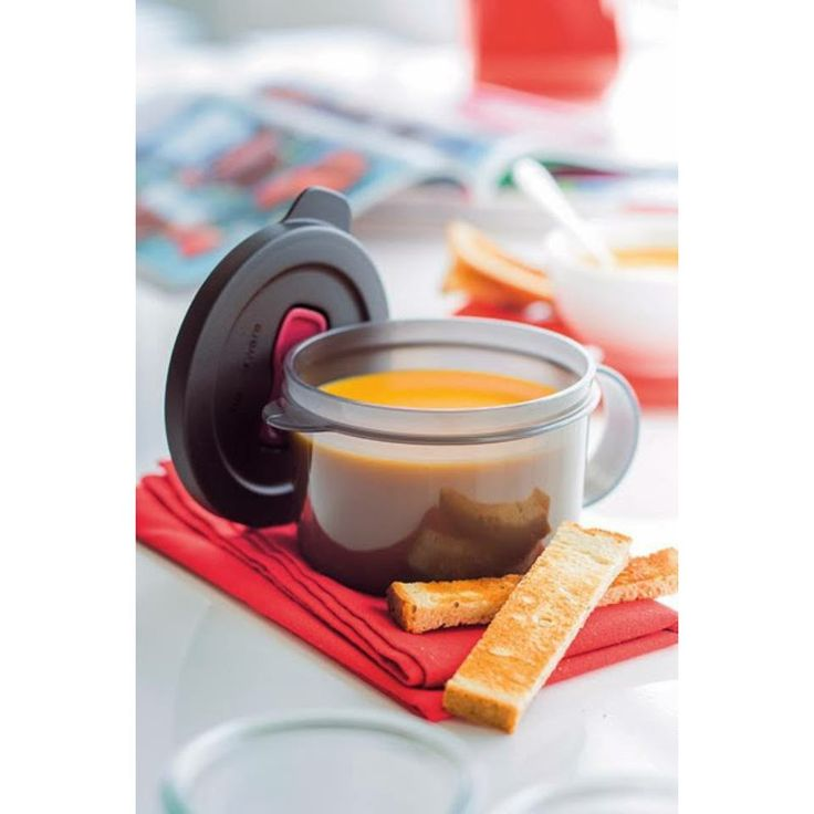 #MicroWave_Mug   Brand: #Tupperware  Short description:  All Tupperware Items are by order.  Perfect for microwave reheating of soup or a single portion of any food. Dimensions:11.9 x 7.5  #Hedeya #hedeyastores #gifts #toys  code:4978  Price:70