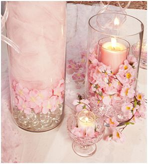 cherry blossom center candles