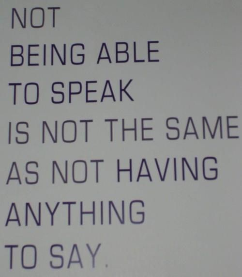 """Absolutely.  Not being able to speak is not the same as not being able to understand what people say, either.  People who study language disabilities distinguish """"expressive language"""" (your ability to use language to express yourself) and """"receptive"""" language (your ability to understand what other people say)."""