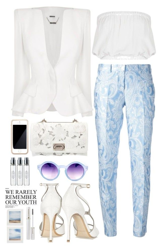 Paisley Printed Trousers w/ McQueen Blazer ft. Valentino Clutch by sarratori on Polyvore featuring Topshop, Michael Kors, Nicholas Kirkwood, Valentino, Chicwish, Squair, Lancôme, Byredo and Alexander McQueen