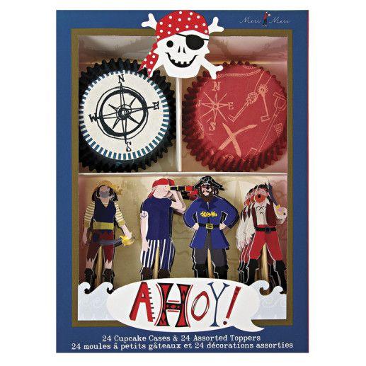 Piratenparty Cupcake Backset Kindergeburtstag