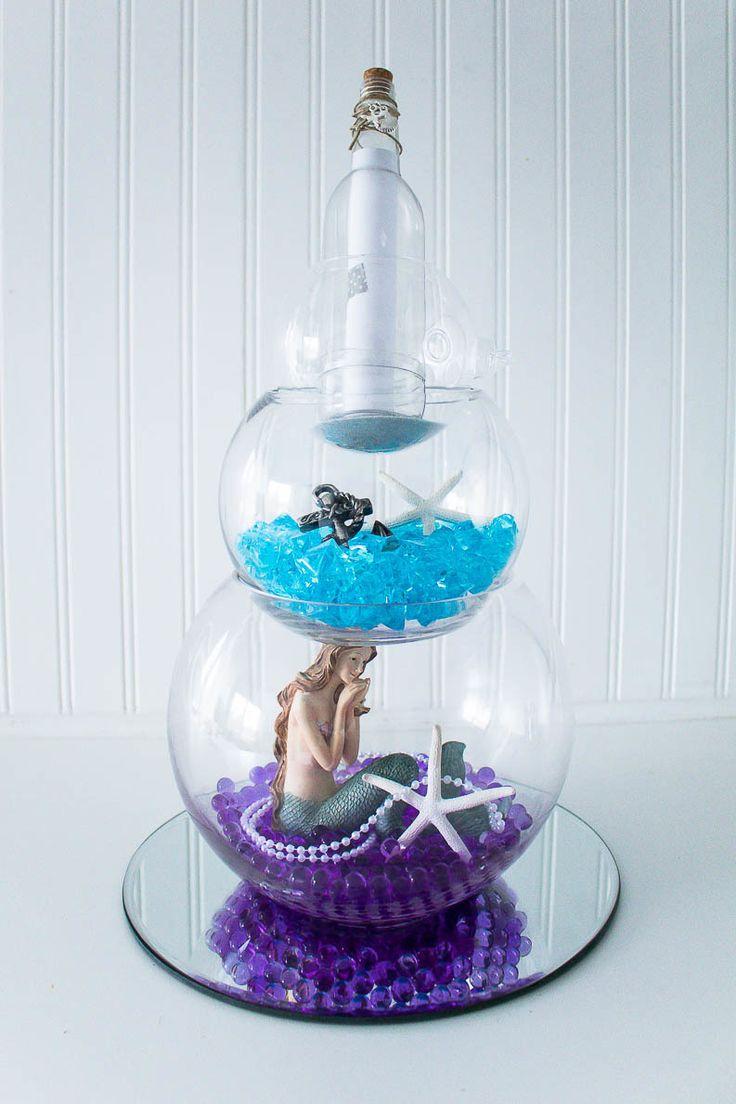 Under The Sea Classroom Decoration Ideas ~ Mermaid and fisherman centerpiece dyi pinterest