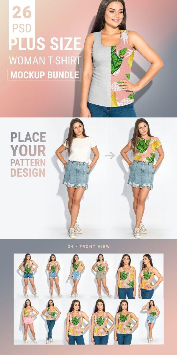 Download Plus Size T Shirt Mockup Bundle Plus Size T Shirts Shirt Mockup Plus Size