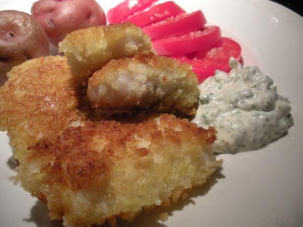 Halibut Fish Sticks With Dill-Caper Tartar Sauce Recipe - Food.com - 429169