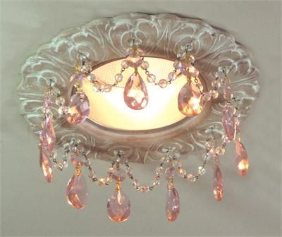 "5"" Florentine Recessed Chandelier from Beaux-Artes above kitchen window"