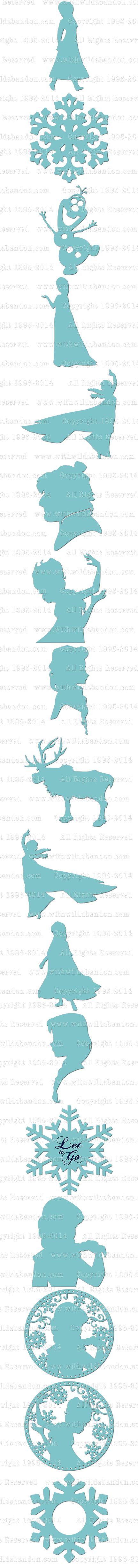 Frozen SVG, Frozen Silhouettes, Anna SVG, Elsa SVG, Anna Silhouette, Elsa Silhouette, Vector, Princess SVG, png, ai, eps Frozen, Clipart, Silhouettes, Anna, Elsa, Sven, Olaf, Princess, Snowflake, svg, png, vector, Graphics, Explore or Cameo Silhouette // La reine des neiges